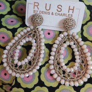 Rush NWT earrings off white gold Boho